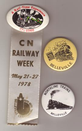 Railway Week ribbon and pins