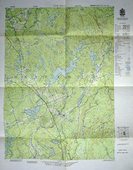 Topographical map of Coe Hill - east half