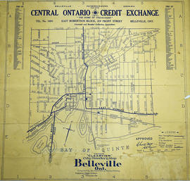 Vernon Clearview Map of Belleville c. 1940