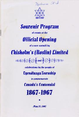 Souvenir programme of events at Chisholm's Mill