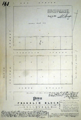 Plan of Franklin Block in Belleville