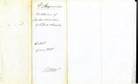 Belleville Petition for Funds to Finish Grammar School 1851