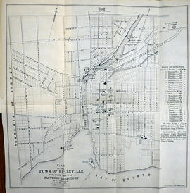 Plan of the town of Belleville 1864-65