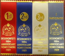 Ribbons from Deseronto's 100th Anniversary Homecoming