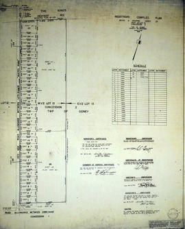 Registrar's Plan of Lot 13 in Sidney Township