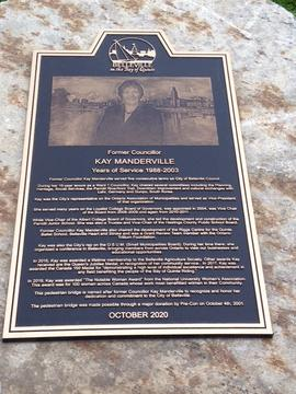 Digital photographs of Kay Manderville plaque unveiling