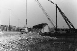 Beginning of construction of Norris Whitney Bridge