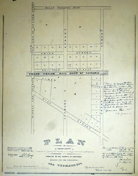 Plan of Town Lots on Lot 1 in the Township of Thurlow