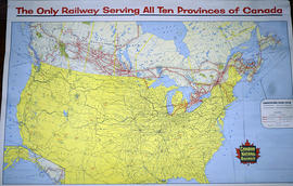 Canadian National Railway System Map