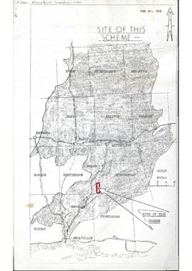 Moira River Conservation Authority : 1958, Plan for Vanderwater Area