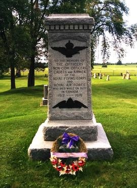 Digital photographs of Royal Air Force graves and memorials in Deseronto cemetery