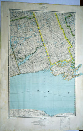 Map Hastings, Prince Edward, Northumberland and Peterborough Counties