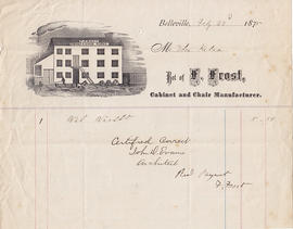 Papers relating to Thomas Kelso's property at 161 George Street, Belleville