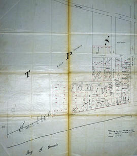 Map of Deseronto city lots and ownership