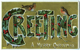 Greeting A Merry Christmas (front)