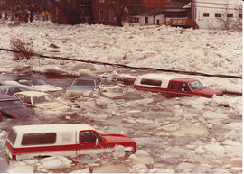 Photographs of 1981 spring flood in Belleville, Ontario