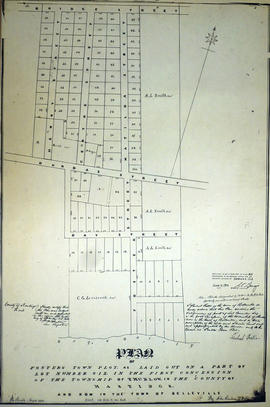 Plan of Foster Town Plot in the town of Belleville