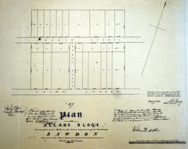 Plan of Allan's Block in the village of Stirling