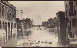 Postcards of Belleville floods and road to Rice Lake