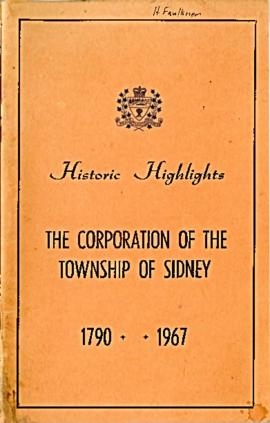 Sidney Township - Historic Highlights 1790-1967