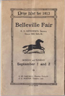 Prize List for 1913 Belleville Fair