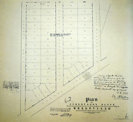 Plan of Robertson Block in the Town of Belleville