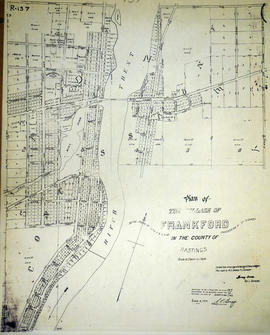 Plan of the village of Frankford (Evans and Bolger tracing)