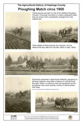 Agricultural History of  Hastings County
