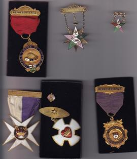 Collection of medals and pins