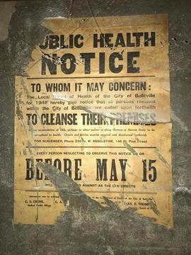 Digital photograph of Public Health Notice