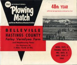 1961 Internatinal Plowing Match Programme