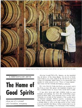 "Corby's ""The Home of Good Spirits"" 1960"