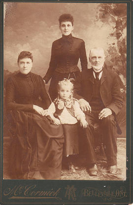 Photograph of Hick and Gilbert family members, Belleville