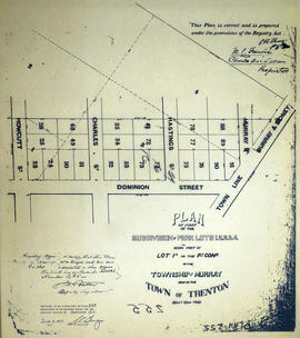 Plan of Park Lots 1-4 in the Township of Murray