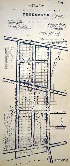 Plan of Blocks K and M in the town of Deseronto