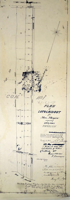 Plan of Lot 11 in the Township of Thurlow for Mrs. Meyers