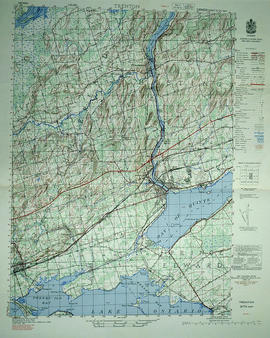 Topographical map of east Trenton - Canada sheet