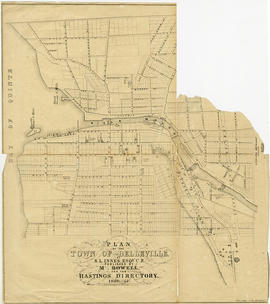 Plan of the streets of Belleville