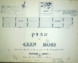 Plan of Glen Ross in the Township of Sidney