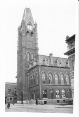 Print and negative of photograph of City Hall in Belleville