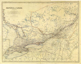 Map of Province of Canada, western sheet