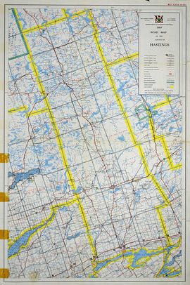 Road Map of Hastings County 1969