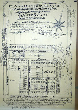 Plan of Re-subdivision of Lots 10-11 in the Village of Tweed