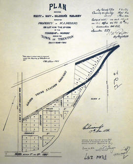 Plan of right of way at Gilmour's Railway