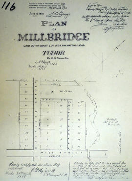 Plan of Millbridge in the Township of Tudor