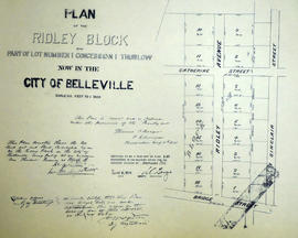 Plan of Ridley Block in the City of Belleville