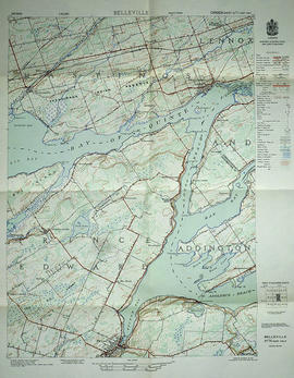 Topographical map of Belleville - east half
