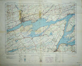 Topographic Map of Ontario - Belleville Sheet