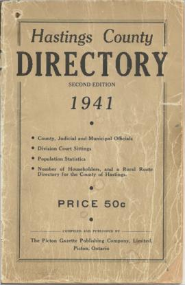 1941 Hastings County Directory