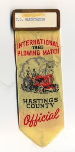 1961 International Plowing Match Badge